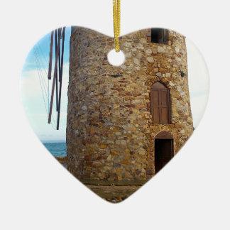 Ornement Cœur En Céramique Conception de roche