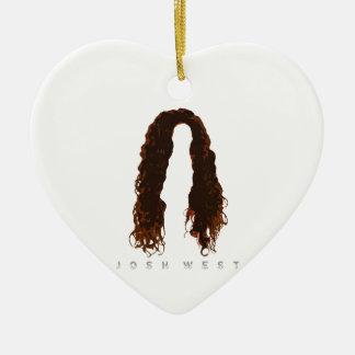 Ornement Cœur En Céramique Conception des cheveux de Josh