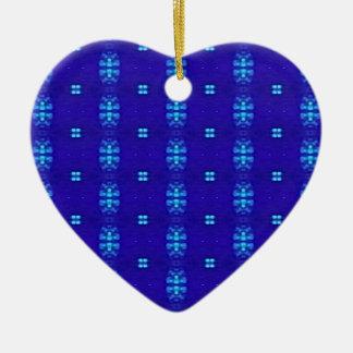 Ornement Cœur En Céramique Conception moderne chic chique de bleu royal