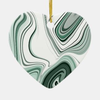 Ornement Cœur En Céramique Conception verte audacieuse d'effet de pierre