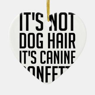 Ornement Cœur En Céramique Confettis canins