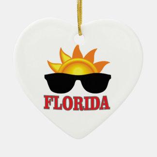 Ornement Cœur En Céramique Cool de la Floride