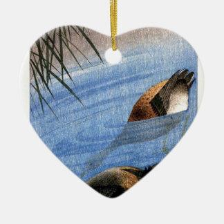 Ornement Cœur En Céramique Copie vintage de canard