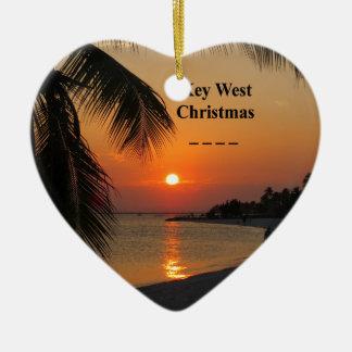 Ornement Cœur En Céramique Coucher du soleil de Key West