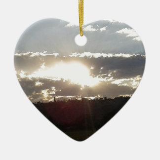 Ornement Cœur En Céramique Coucher du soleil d'Imperani