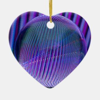 Ornement Cœur En Céramique Couleurs de boule de cristal
