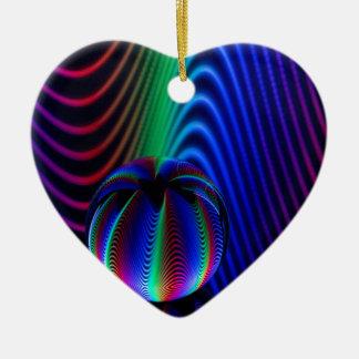 Ornement Cœur En Céramique Couleurs de cristal