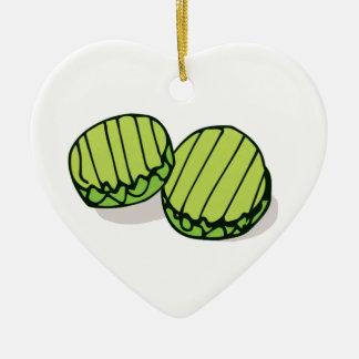 Ornement Cœur En Céramique Couples dans des conserves au vinaigre ensemble