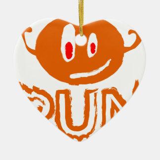 Ornement Cœur En Céramique Courez | peu de monstre de Halloween