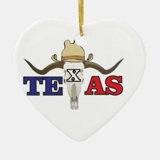 Ornement Cœur En Céramique cowboy mort le Texas