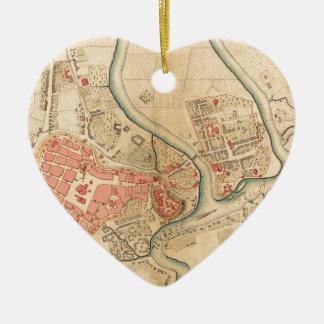 Ornement Cœur En Céramique Cracovie Pologne 1755