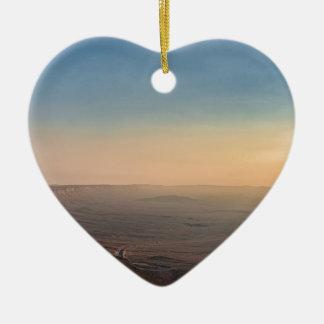 Ornement Cœur En Céramique Cratère de Mizpe Ramon, Israël