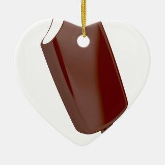 Ornement Cœur En Céramique Crème glacée de chocolat