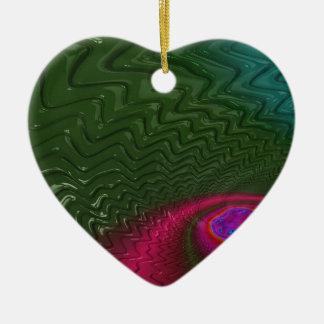 Ornement Cœur En Céramique Crépuscule de fractale de vent