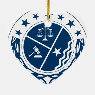 Ornement Cœur En Céramique Crête de défenseur de justice