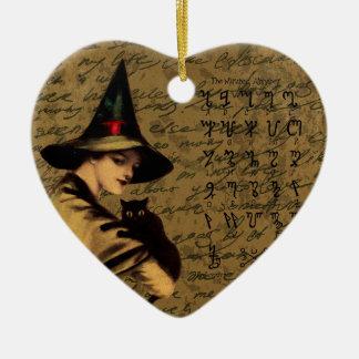 Ornement Cœur En Céramique Cru de sorcellerie