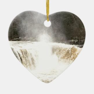 Ornement Cœur En Céramique Cumberland tombe grand South Fork Kentucky