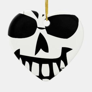 Ornement Cœur En Céramique cure-dents de Halloween-visage