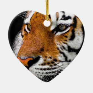 Ornement Cœur En Céramique Dangereux prédateur animal d'Amurtiger de chat de