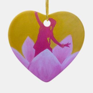 Ornement Cœur En Céramique Danseur de Lotus Kathak