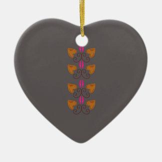Ornement Cœur En Céramique Deco argenté en bois d'éléments