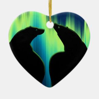 Ornement Cœur En Céramique Décoration d'amour d'ours personnalisée par