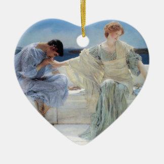 Ornement Cœur En Céramique Demandez-moi pas plus par Alma Tadema, romantisme