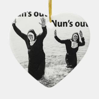 Ornement Cœur En Céramique Des soleils nonnes