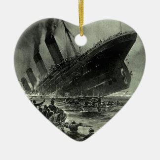 Ornement Cœur En Céramique Descente titanique