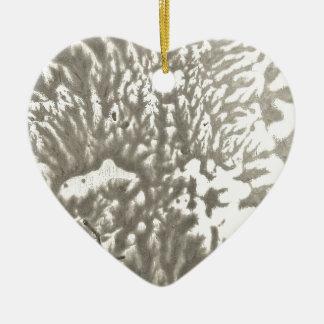 Ornement Cœur En Céramique Désert en métal