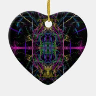 Ornement Cœur En Céramique Dessin géométrique de l'espace