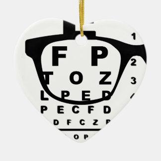 Ornement Cœur En Céramique Diagramme d'essai d'oeil de Blurr