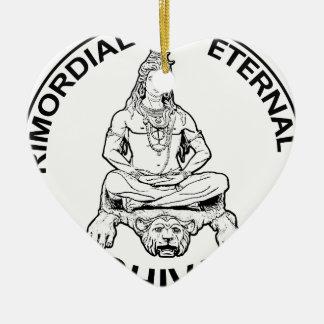 Ornement Cœur En Céramique Dieu éternel de seigneur Shiva et indien