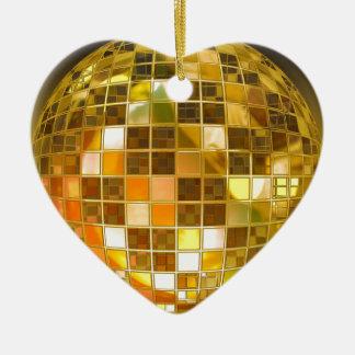 Ornement Cœur En Céramique Disco de partie de lumière de danse de saut de