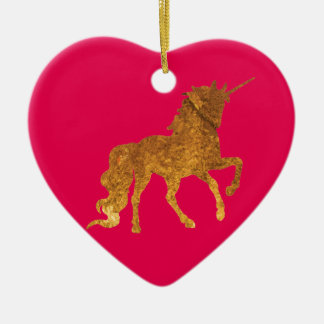 Ornement Cœur En Céramique Diverses couleurs caracolantes magiques de licorne