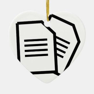 Ornement Cœur En Céramique Documents sur papier