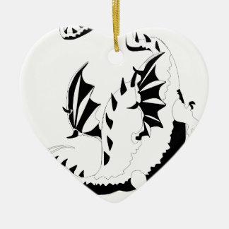 Ornement Cœur En Céramique dragon