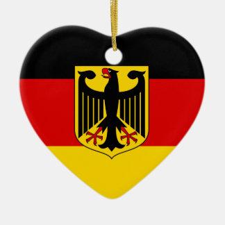 Ornement Cœur En Céramique Drapeau allemand