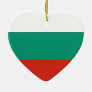 Ornement Cœur En Céramique Drapeau bulgare
