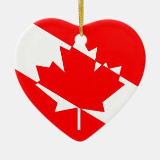 Ornement Cœur En Céramique Drapeau canadien de plongeur autonome
