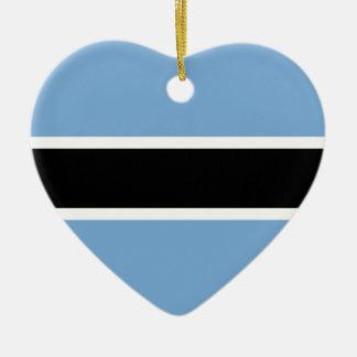 Ornement Cœur En Céramique Drapeau du Botswana