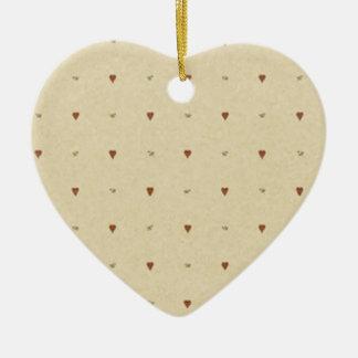 Ornement Cœur En Céramique Du brun et du beige pour la Saint-Valentin -
