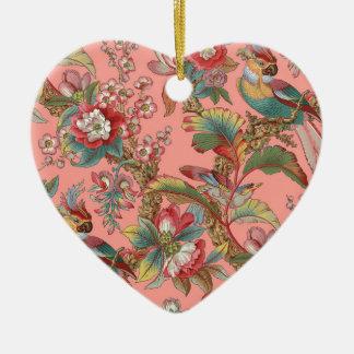 Ornement Cœur En Céramique Duchesse de ~ de perroquet d'Edwardian