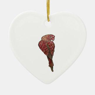 Ornement Cœur En Céramique Écarlate rouge