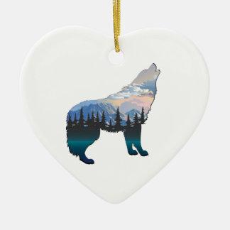 Ornement Cœur En Céramique Écho de Yellowstone