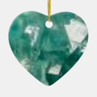 Ornement Cœur En Céramique éclat vert des bijoux