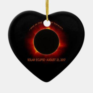 Ornement Cœur En Céramique Éclipse solaire