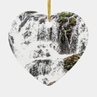 Ornement Cœur En Céramique Écoulements d'eau naturels