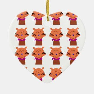 Ornement Cœur En Céramique Édition d'enfants de renards d'éléments de
