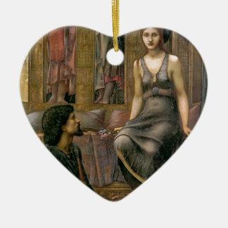 Ornement Cœur En Céramique Edouard - le Roi Cophetua et la domestique de